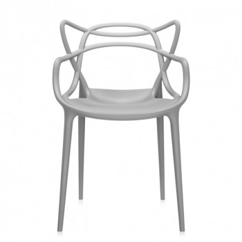Chaise Master- Philippe Stark- Kartell- coloris gris