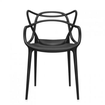 Chaise Master- Philippe Stark- Kartell- coloris noir