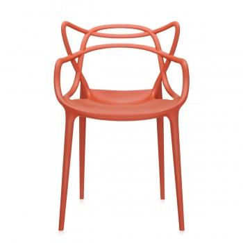 Chaise Master- Philippe Stark- Kartell- coloris orange