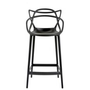 Chaise haute Master stoll- Kartell-Philippe Starck- noire